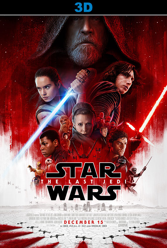 Star Wars: The Last Jedi 3D Poster