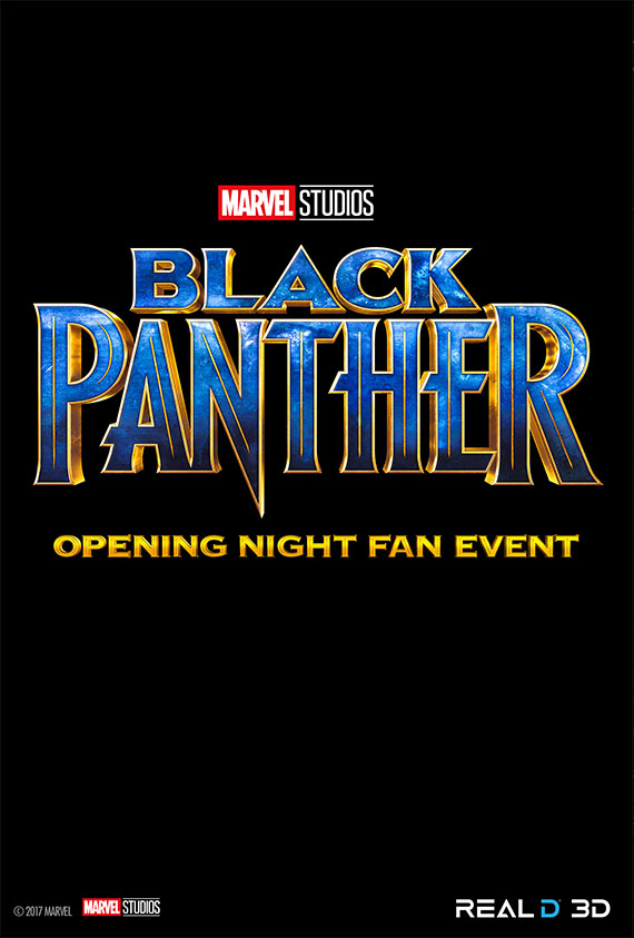 Opening Night Fan Event Black Panther 3D