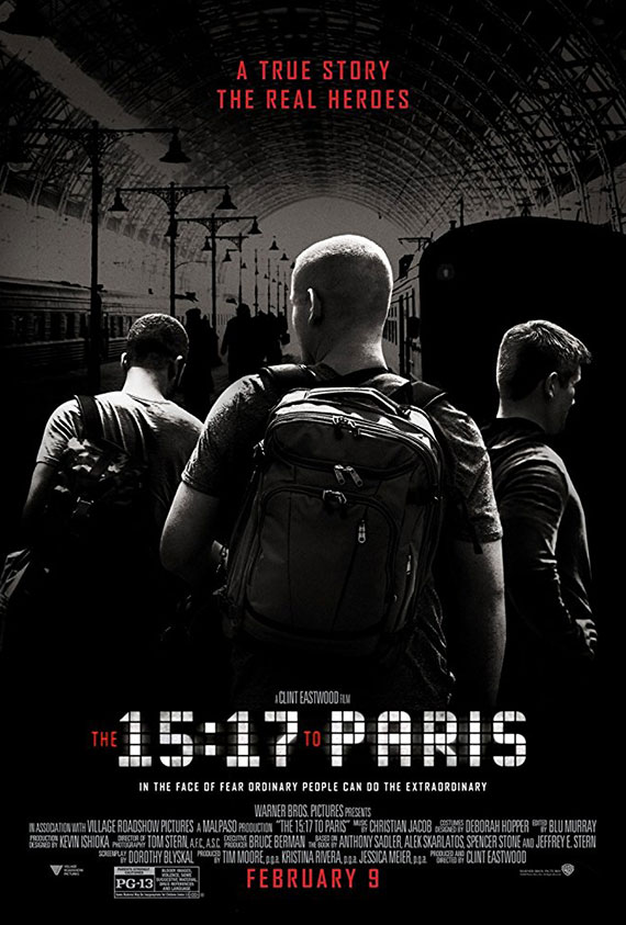 15:17 To Paris, The Poster