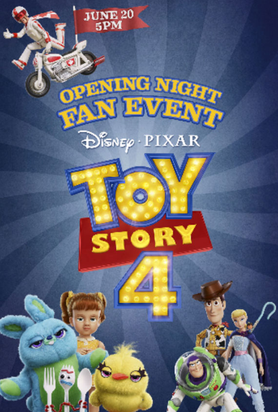 Toy Story 4 Opening Night Fan Event