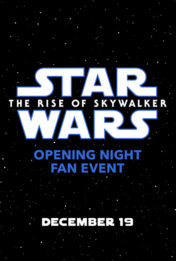Opening Night Fan Event Star Wars: The Rise of Sky