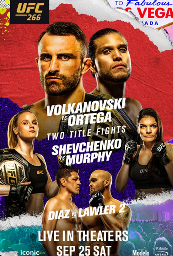 UFC 266: Volkanovski vs. Ortega poster image