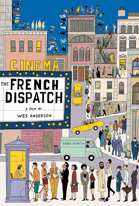 French Dispatch, The poster image